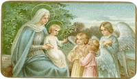 Mary,<br/> Baby Jesus,<br/> and Angels